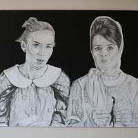 Claire & Emily | Pencil on paper