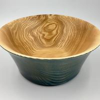 Strikingly Grained Royal Blue Gilt Ash Salad Bowl, Diameter 235mm Height 100mm, (Guide Price £70.00)