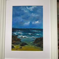 """I've been there!  a work in acrylics, framed 18"""" by 14"""" £80"""