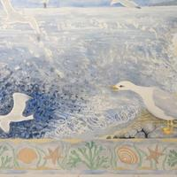 Detail Seagull painting for hospital