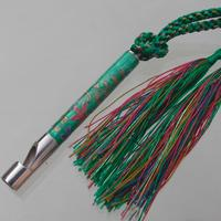 Penny Whistle sterling silver with cloisonné enamel on silk chord