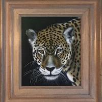 Leopard - Framed acrylic on board  50 x 55 cm