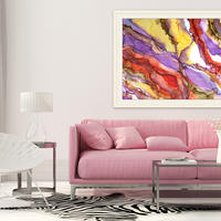 Go with the Flow - Abstract painting by Silvia Boev