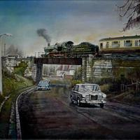 NEXT STOP BRIDGNORTH (in the 1960s on the SVR) painted in oils, size 16in x12in on canvas 2020