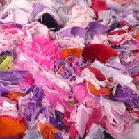 """""""Pinks"""" homedyed, velvets , cottons and  canvas, stitched rags !"""