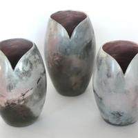 Three smoke fired vessels