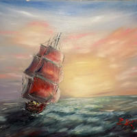Sailing IV, Oil on panel, 24 x 18 in