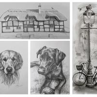 Pencil and Pen & Ink sketches reveal much about the artistic soul.