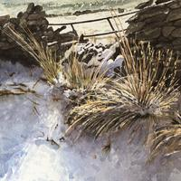 Snow on the Tops - original watercolour SOLD.  Prints available 370mm x 470mm unframed. £50