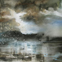 The Inlet , watercolour on paper