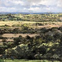 View from Edgehill to Radway and Kineton. Oil on linen. 40cm x 40cm.