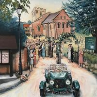 Wedding paintings full of stories - happy, funny, poignant memories woven into one painting.