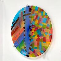 Malang - From Above - Fused glass wall art
