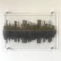 Brum - Fused glass cityscape wall art