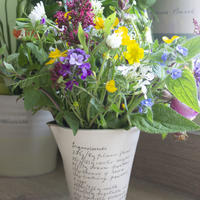A wheel thrown jug/pourer, decorated with a recipe which was handwritten by Alice's late grandmother. Suitable for holding a delightful bunch of beautiful wildflowers.