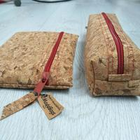 Cork Pencil Case, Cork Purse, Cork Pouch.   Lovingly made by hand in Warwickshire by 2MaddBags.  Eco friendly.