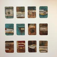 """Mixed media collage. """" Revision Cards """""""