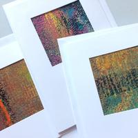 Hand painted Art Cards in acrylic paint with embossed textures.