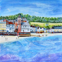 Kingsand, Cornwall. Original Mixed Media Painting. Framed Size 63.5cm x 63.5cm. Price £600