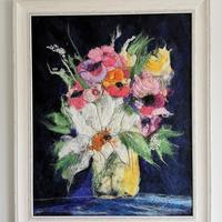 Floral delight - felt and embroidery