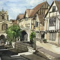 Warwick, The Lord Leycester Hospital 20x16 inches mounted £185.00