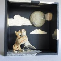 They Danced by the Light of the Moon; stoneware, oxides, mixed media.