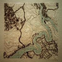 Hand embroidered and applique map
