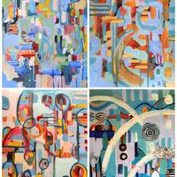 Intuitive abstract paintings