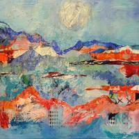 Seascape 2.  Mixed media intuitive painting £150