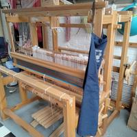 Loom in the corner of my studio - wanting to play