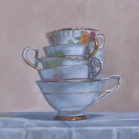Gold Cups oil on panel