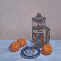 Morning Coffee Oil on panel