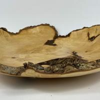 Large Shallow maple natural edged bowl 345 X 90mm