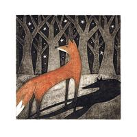 Collagraph:  'Fox and Shadow'