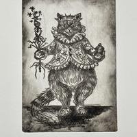 Drypoint Etching:  Untitled