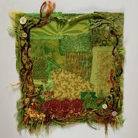 The First Hellebore: embroidered textiles landscape