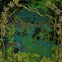 Palace of the Frog Prince: embroidered textiles collage