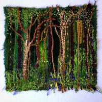 Bluebell Wood: embroidered textiles picture
