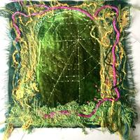 Come into My Parlour: embroidered textiles picture