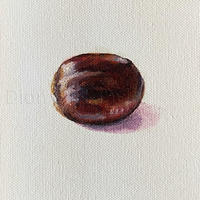 """Conker #trophy, oil on canvas 6 x 6"""" or Giclee print on 310gsm Museum paper"""