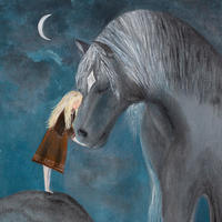 Moon & Star - the bond between a girl and her horse, a dream like memory