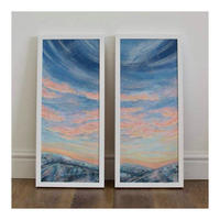 Semi abstract diptych sky scape