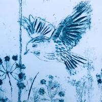 Early Morning - Collagraph
