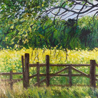 Inspired by walking locally.  Oil on board