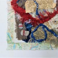 cloth and precious treasures layered collage