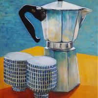'Coffee at Home', acrylic on canvas, 50 x 40cm £200