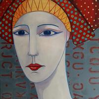 'Pharaoh's Wife, acrylic on canvas, 70 x 50cm, £275