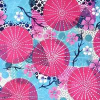 'Haru - Japanese Spring' Acrylic paint and pen on paper. Size: A3