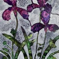 'Irises' Acrylic paint and pen on watercolour paper. Size: A4. £50