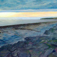 The Flaggy Shore, acrylic on canvas by Pat McHale